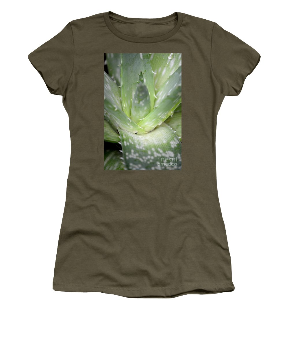 Heart Women's T-Shirt featuring the photograph Heart Of An Aloe by Maria Urso