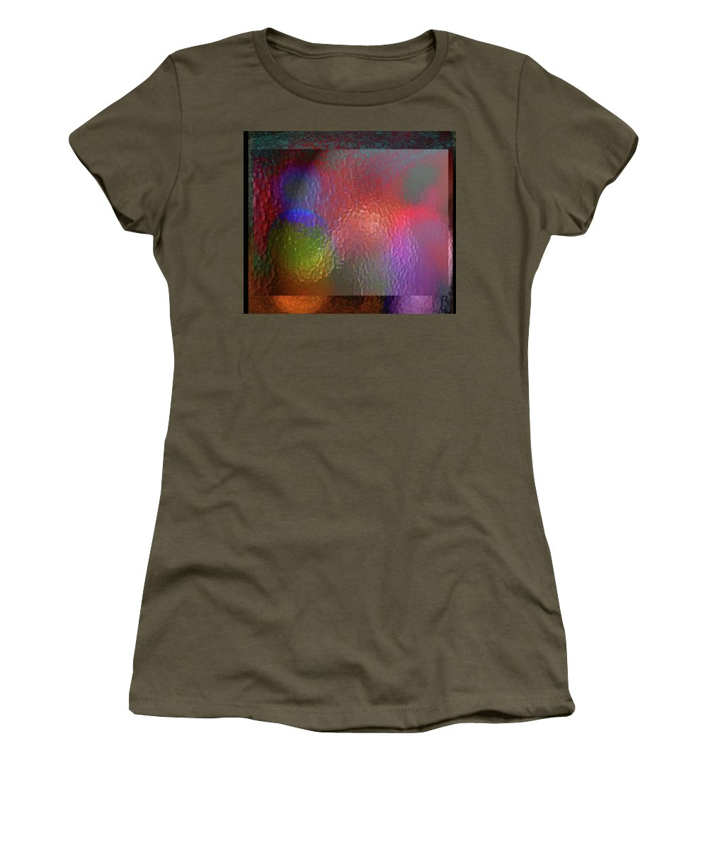 Abstract Women's T-Shirt featuring the photograph Her Other Self by Lenore Senior