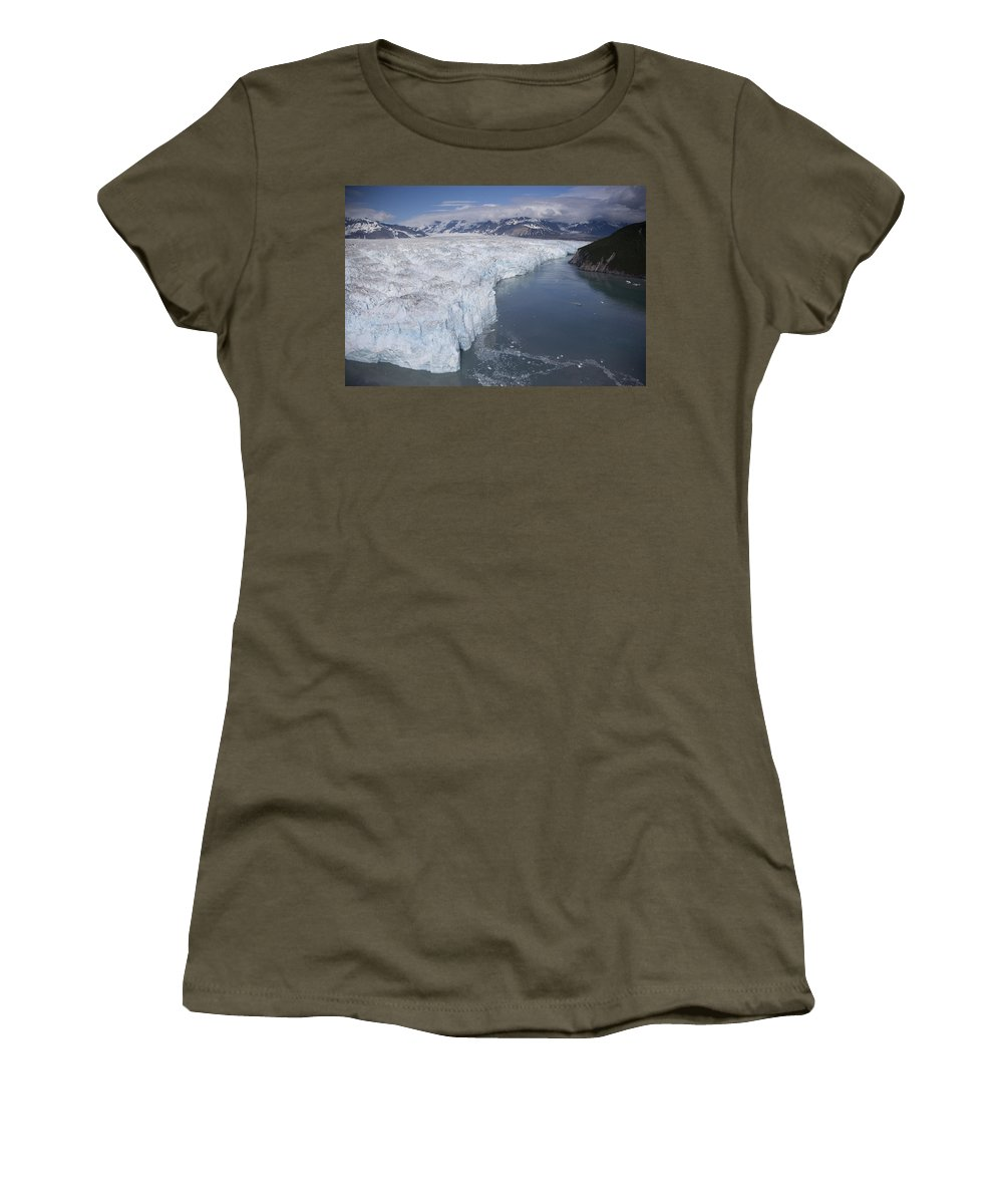 Mp Women's T-Shirt featuring the photograph Hubbard Glacier Encroaching On Gilbert by Matthias Breiter
