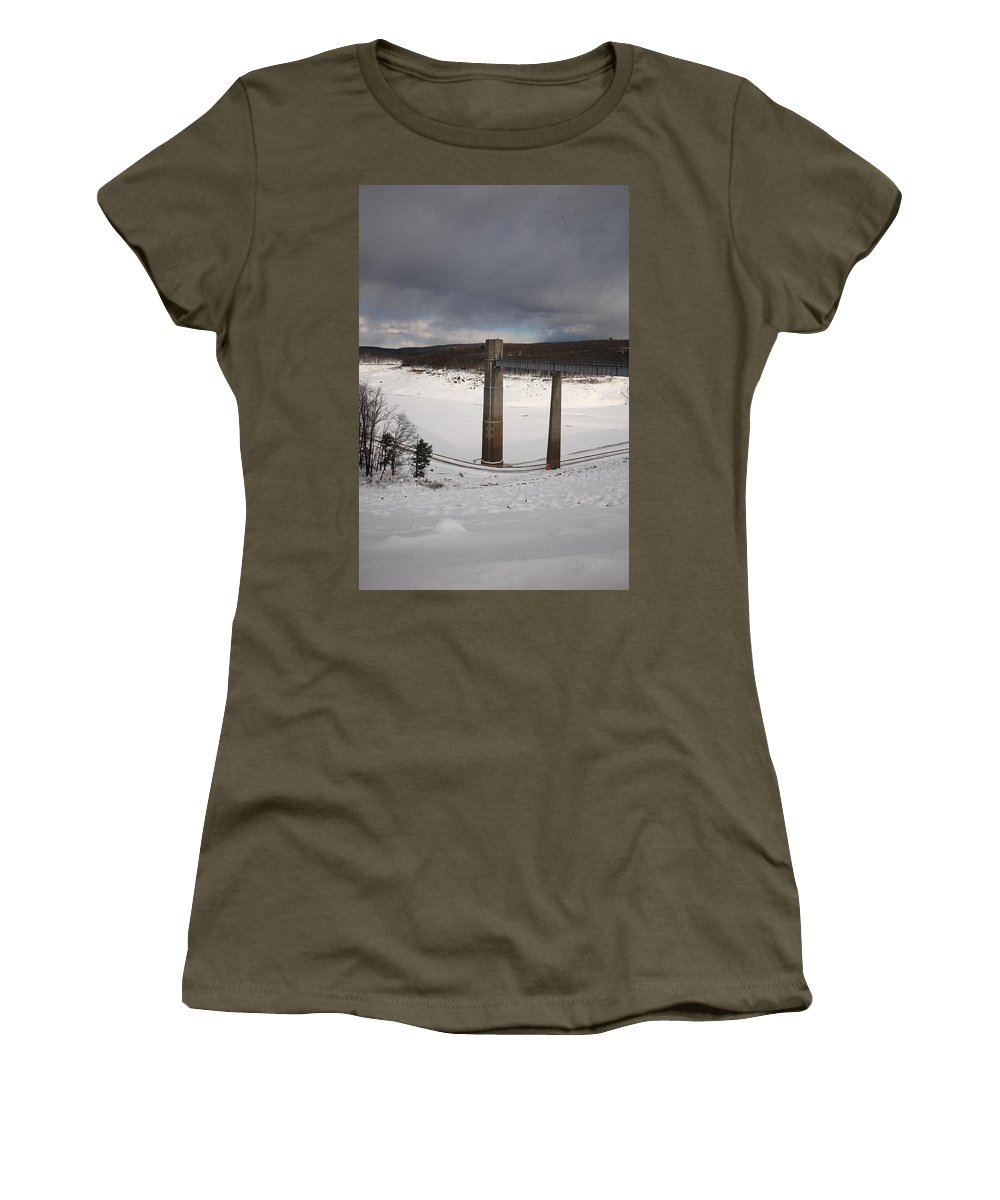 Ice Women's T-Shirt featuring the photograph Ice Tower Catwalk by Maglioli Studios