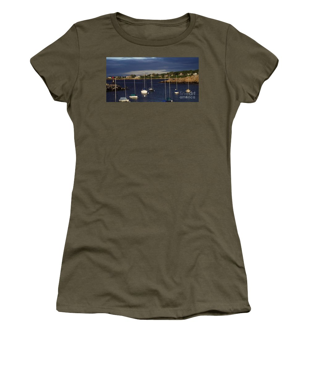 Rockkport Women's T-Shirt featuring the photograph In For The Night by Michelle Welles