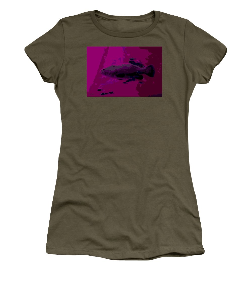 Ocean Women's T-Shirt featuring the photograph in the Depths by George Pedro