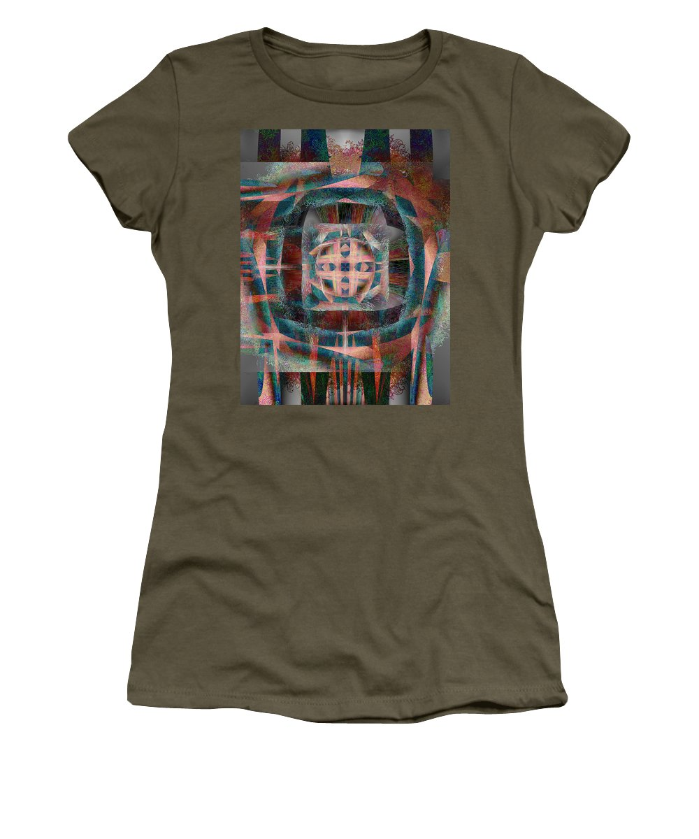 Infinite Women's T-Shirt featuring the painting Infinite Scrollwork by Christopher Gaston