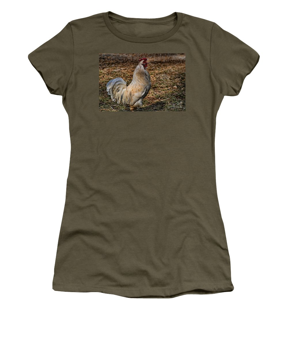 Just A Chicken Women's T-Shirt featuring the photograph Just A Chicken by Paul Ward