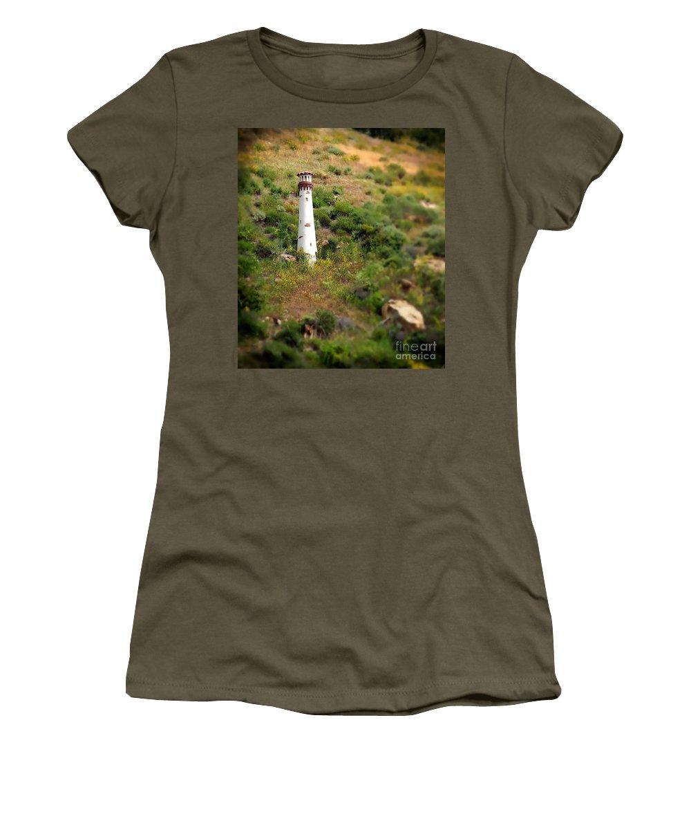 Light Women's T-Shirt featuring the photograph Laguna Beach Light Tower by Henrik Lehnerer