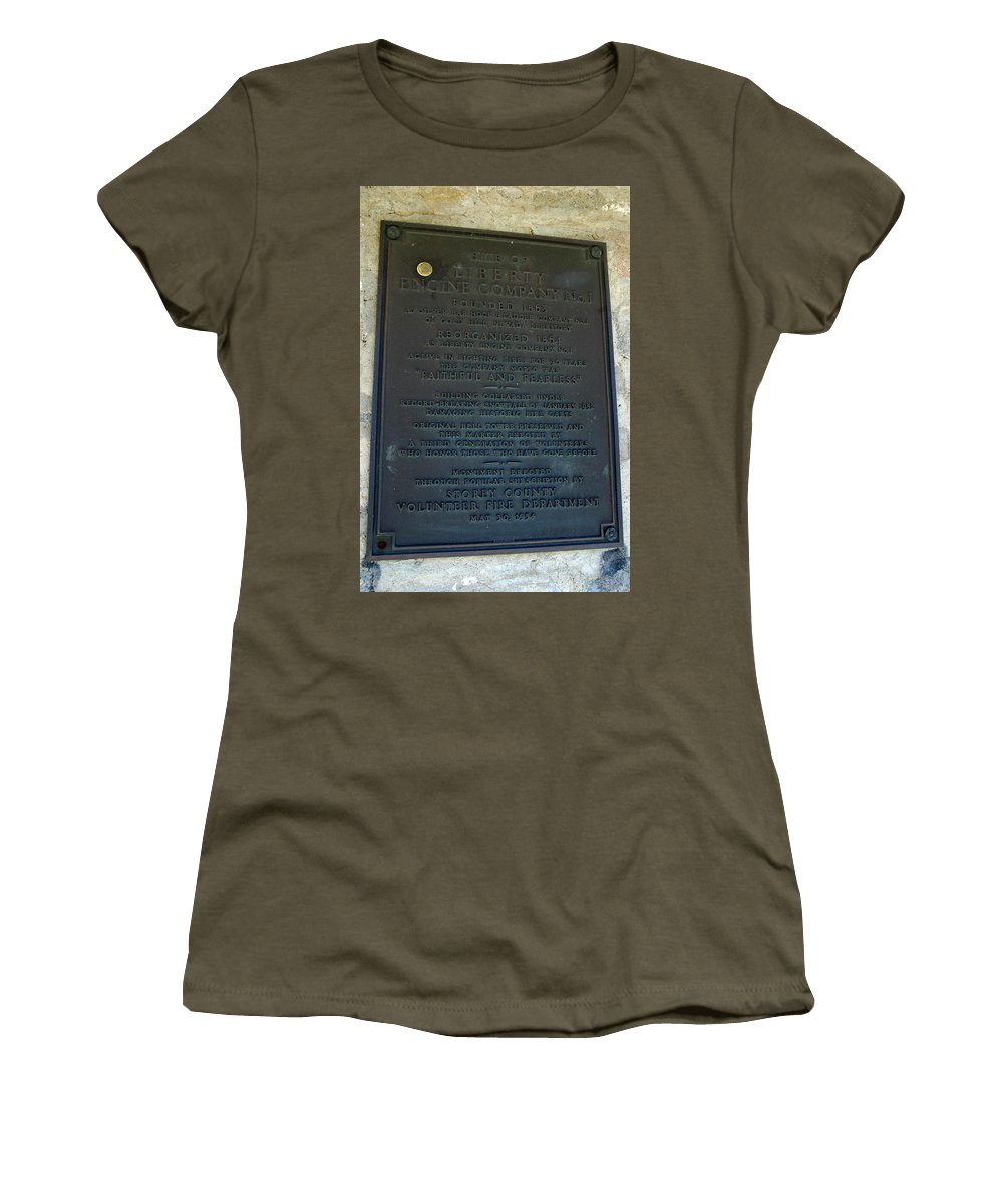 Usa Women's T-Shirt featuring the photograph Liberty Engine Company by LeeAnn McLaneGoetz McLaneGoetzStudioLLCcom