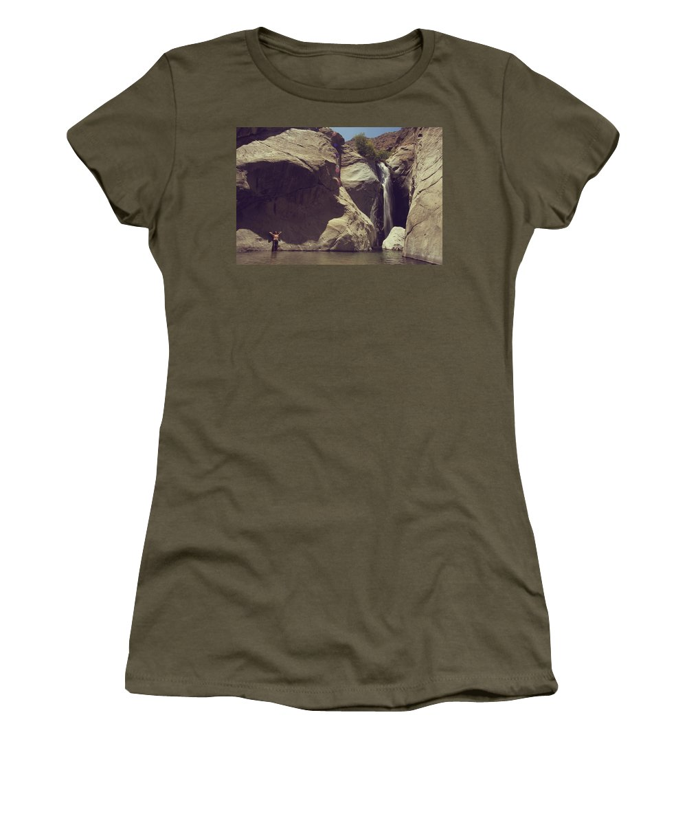 Palm Springs Women's T-Shirt (Athletic Fit) featuring the photograph Location Shoot by Laurie Search
