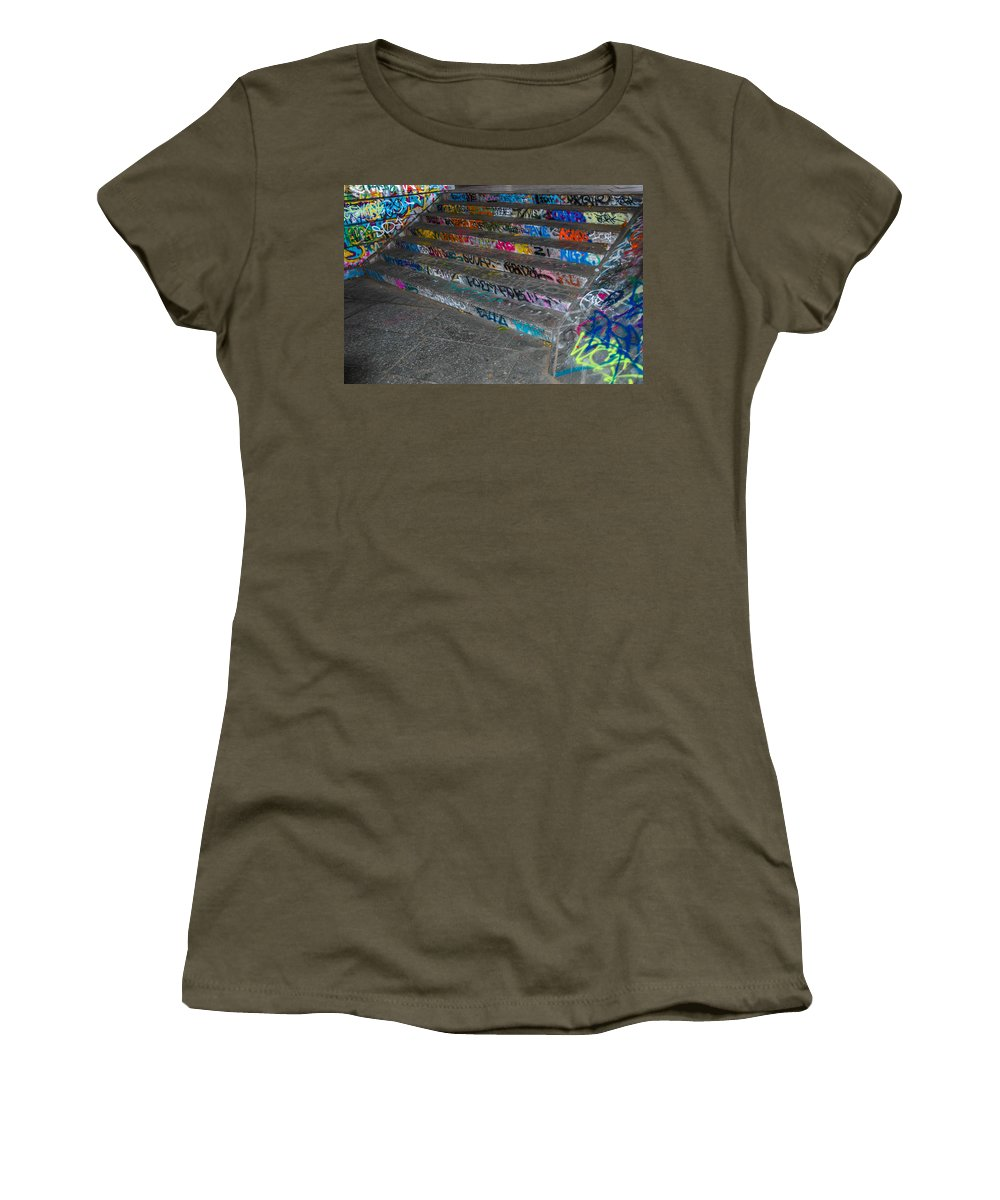 Street Art Women's T-Shirt (Athletic Fit) featuring the photograph London Skatepark 4 by Jonah Anderson