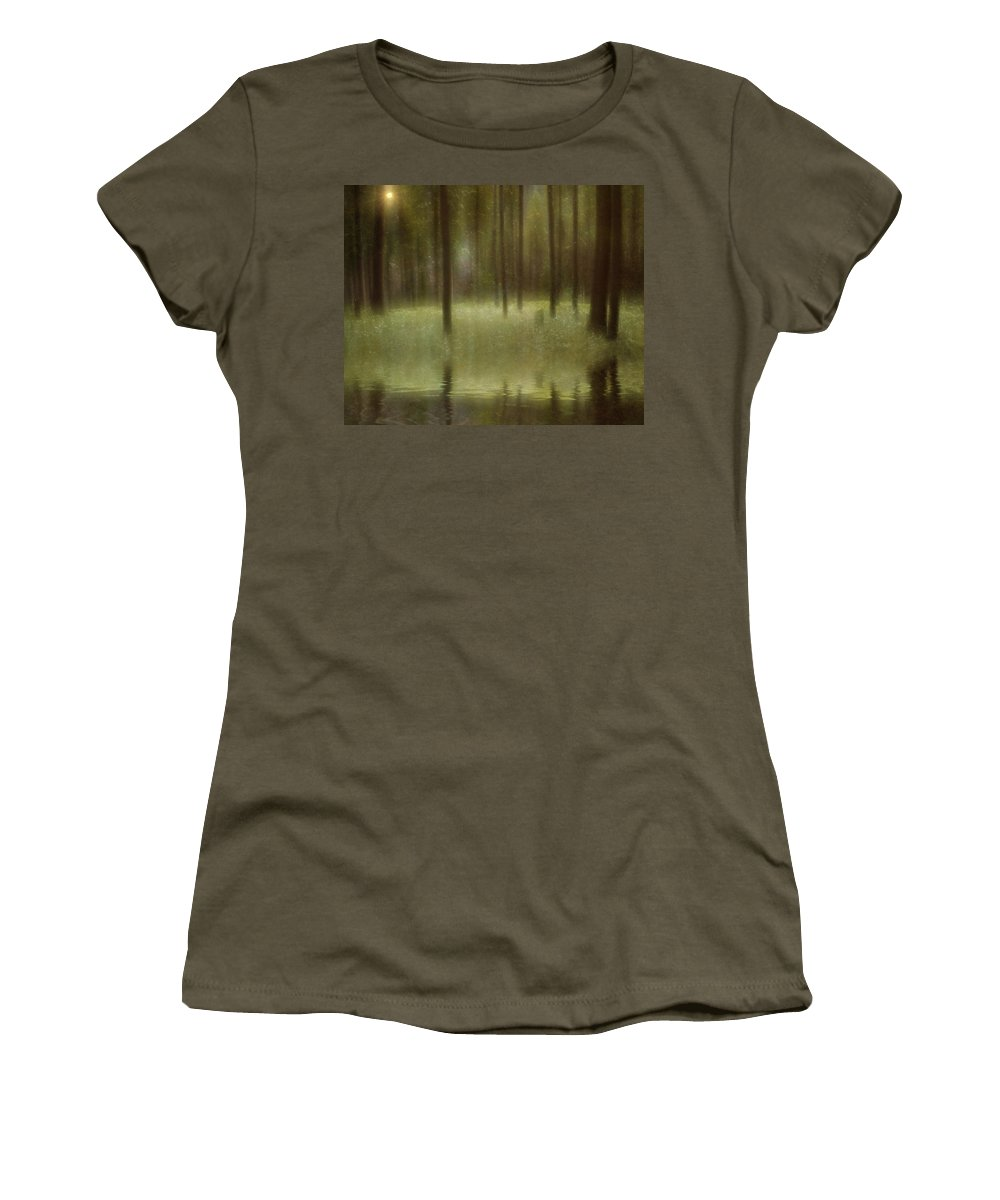 Forest Women's T-Shirt (Athletic Fit) featuring the digital art Magical Forest by Diane Dugas