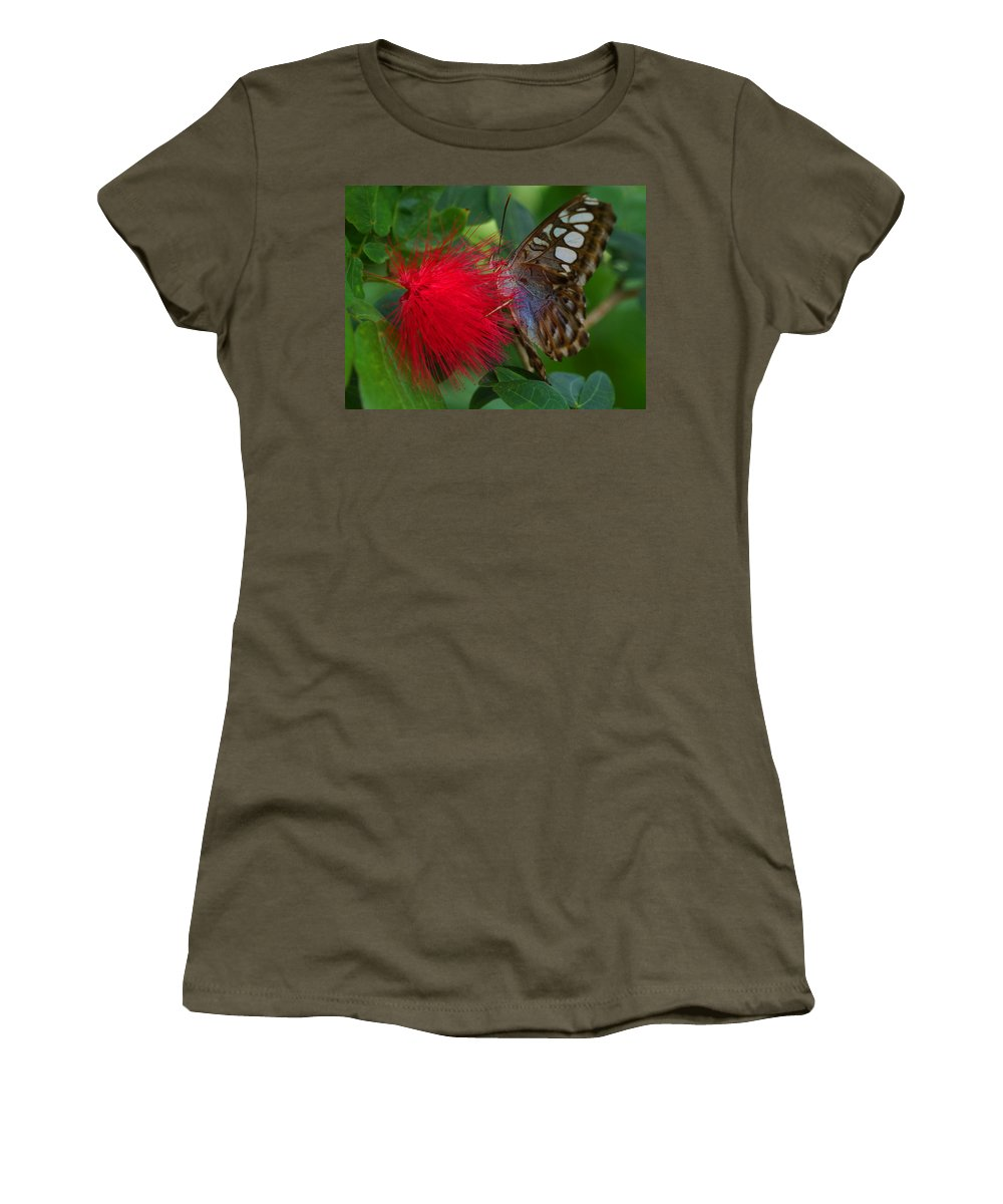Butterfly Women's T-Shirt featuring the photograph Me And My Fluffy by Sumi Martin