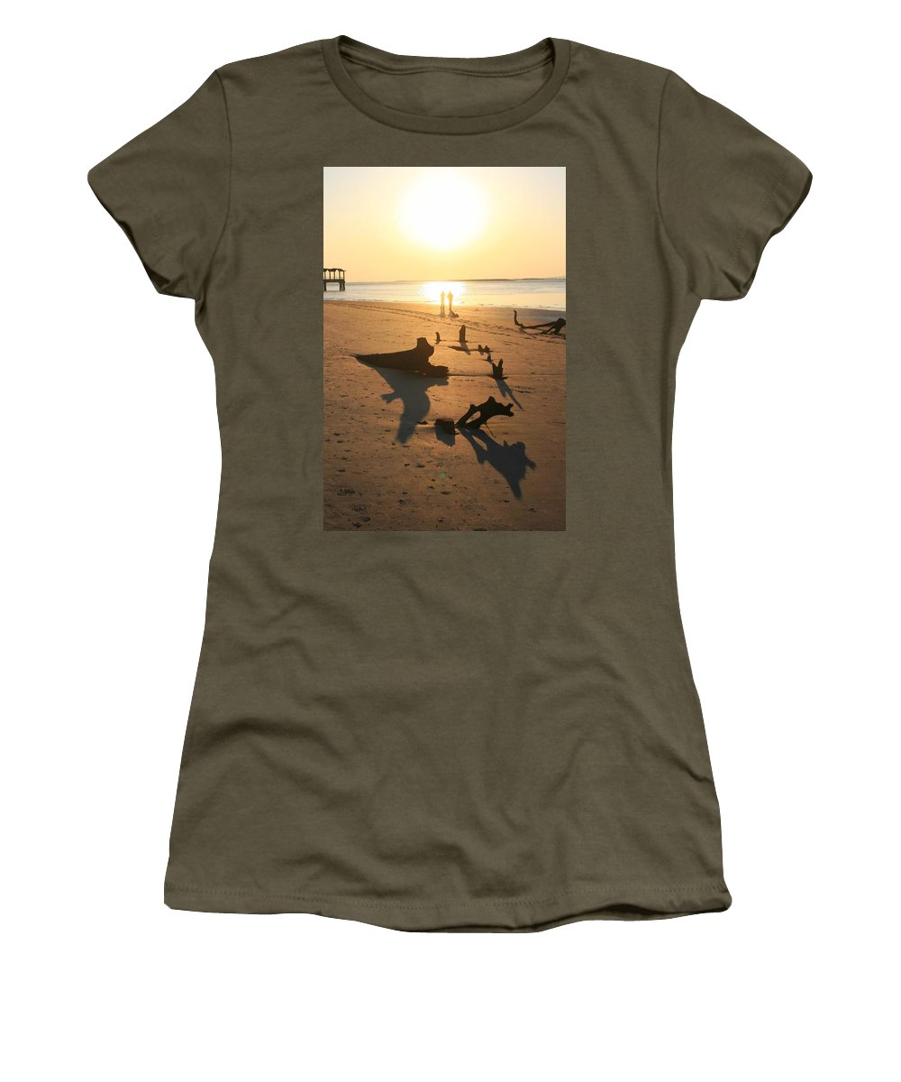 Sunset Women's T-Shirt featuring the photograph Memory Lane by Phil Cappiali Jr