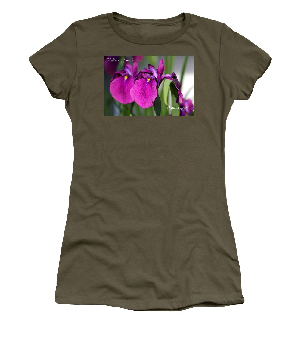 Card Women's T-Shirt featuring the photograph Miss You by Deborah Crew-Johnson
