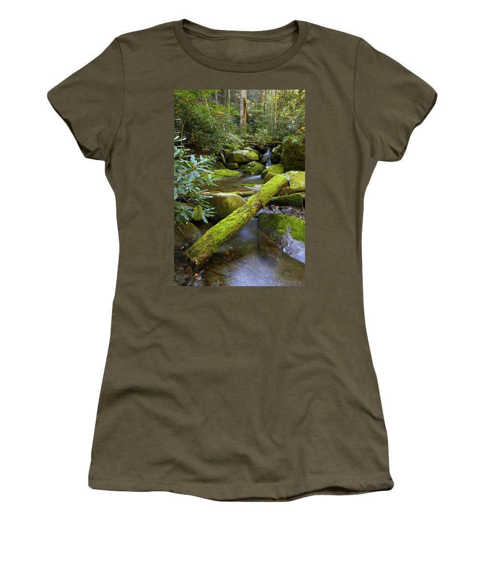 Tennessee Women's T-Shirt featuring the photograph Moss Flourishing by Andrew McInnes