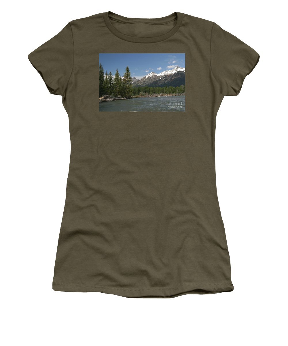 Grand Tetons Women's T-Shirt featuring the photograph My Favorite Of The Grand Tetons by Living Color Photography Lorraine Lynch