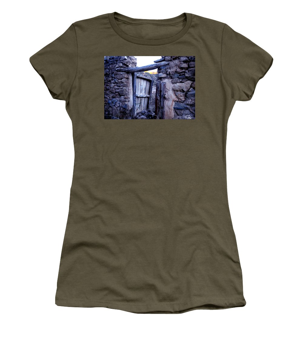 Colette Women's T-Shirt featuring the photograph Old Finca Ancient Hause In The Spanish Mountains by Colette V Hera Guggenheim