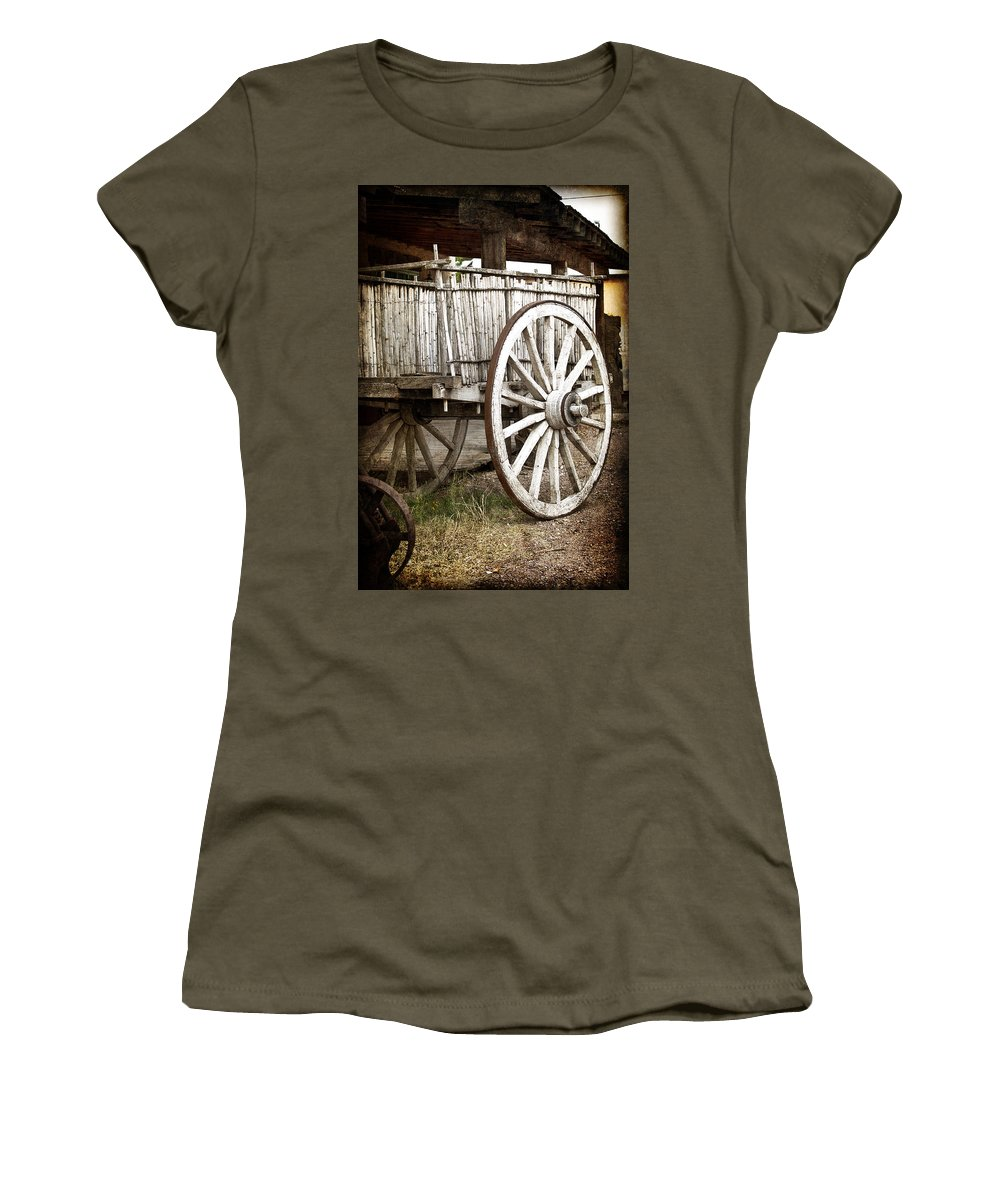 Tombstone Women's T-Shirt (Athletic Fit) featuring the photograph Old West by Jay Hooker