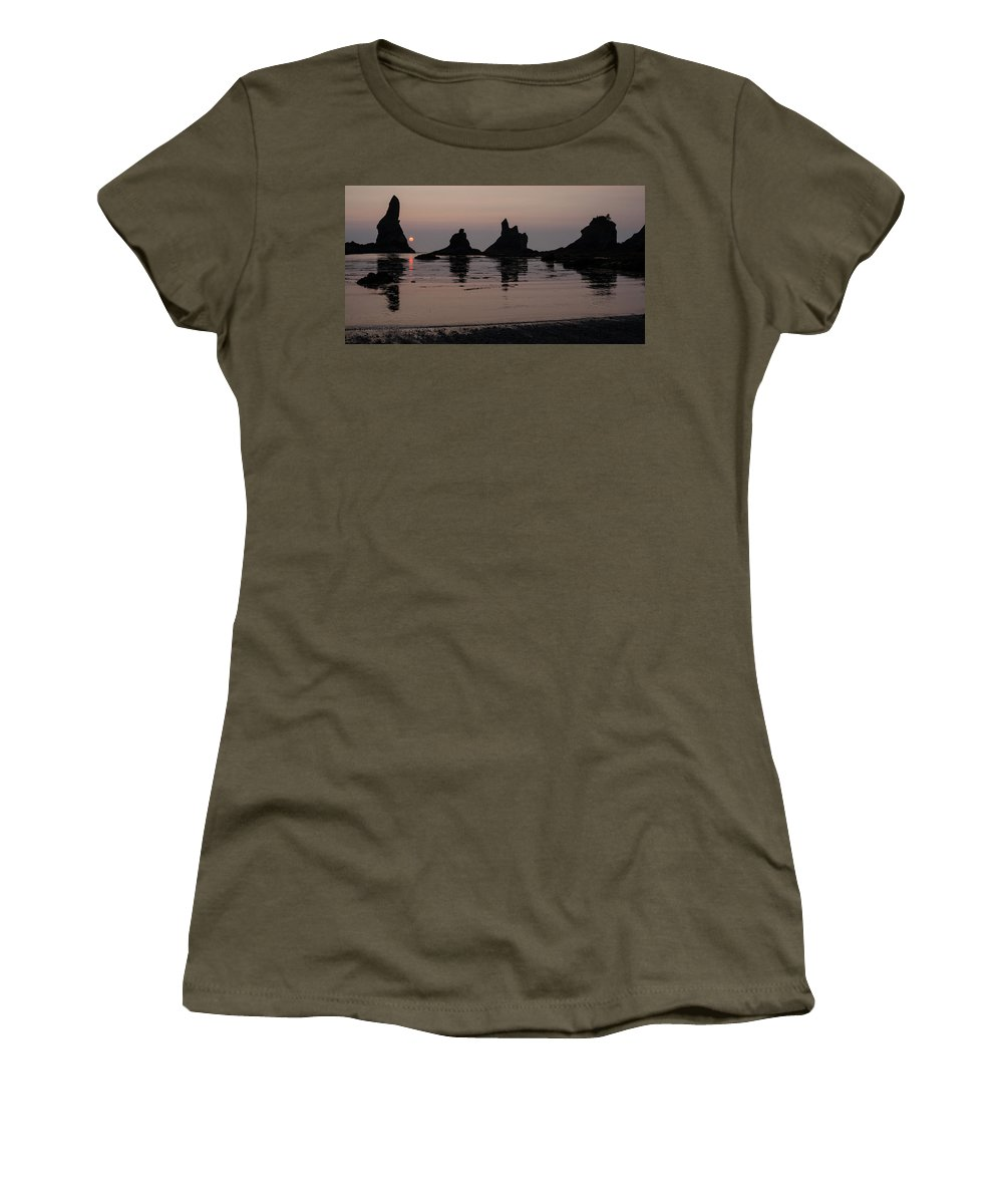 Coast Women's T-Shirt featuring the photograph Orb Descending by Mike Reid