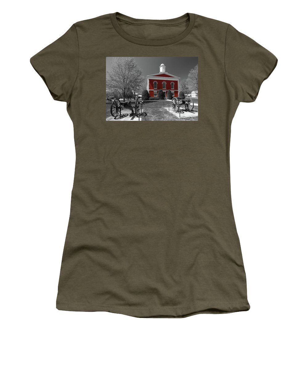 Ozarks Women's T-Shirt featuring the photograph Order In The Court by Steve Stuller