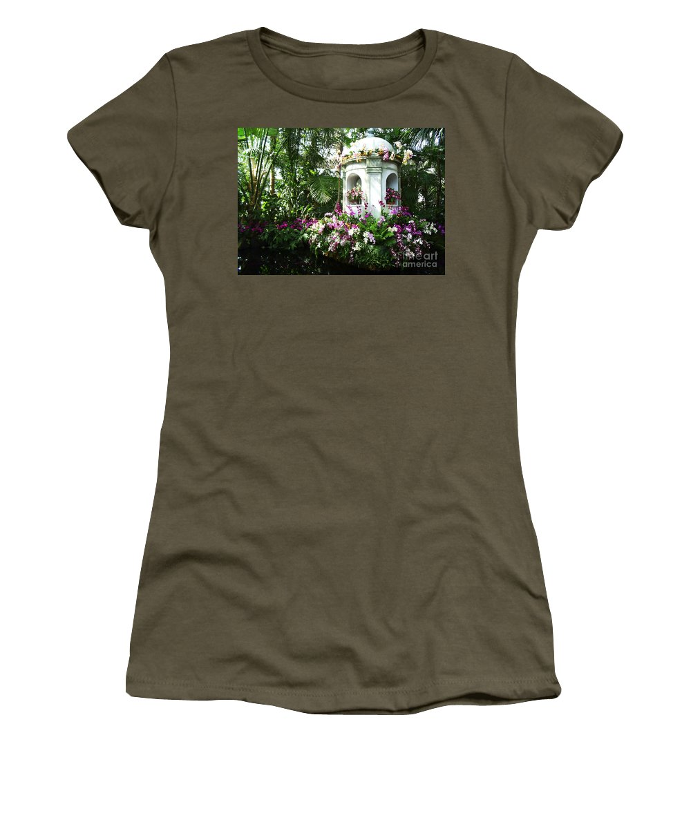 Paradise Women's T-Shirt featuring the photograph Paradise Gazebo by Mike Nellums