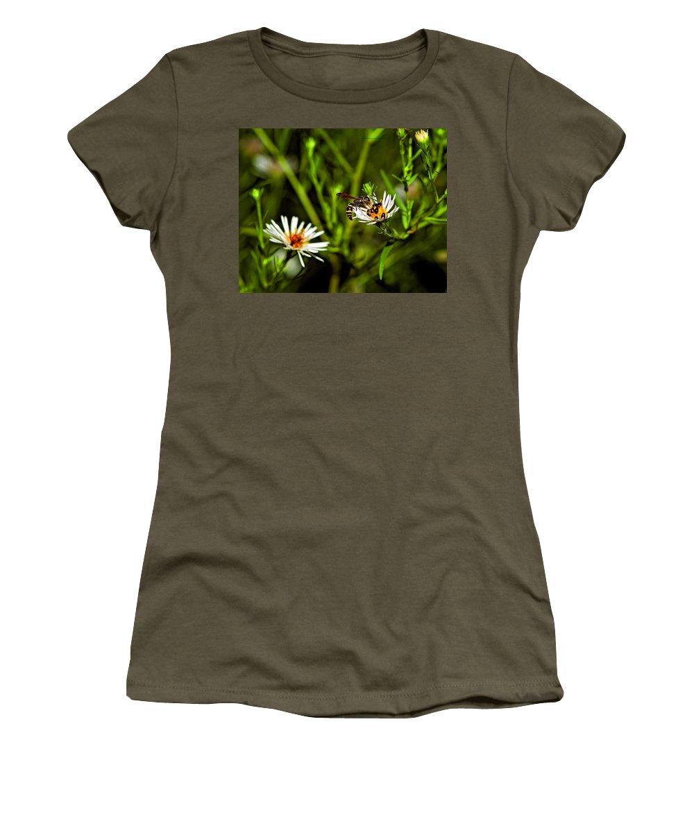 Flower Women's T-Shirt featuring the photograph Party Flower by Steve Harrington