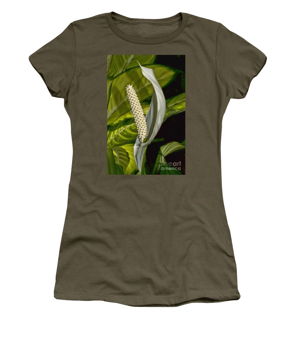 Lilly Women's T-Shirt featuring the photograph Peace Everyone by Deborah Benoit