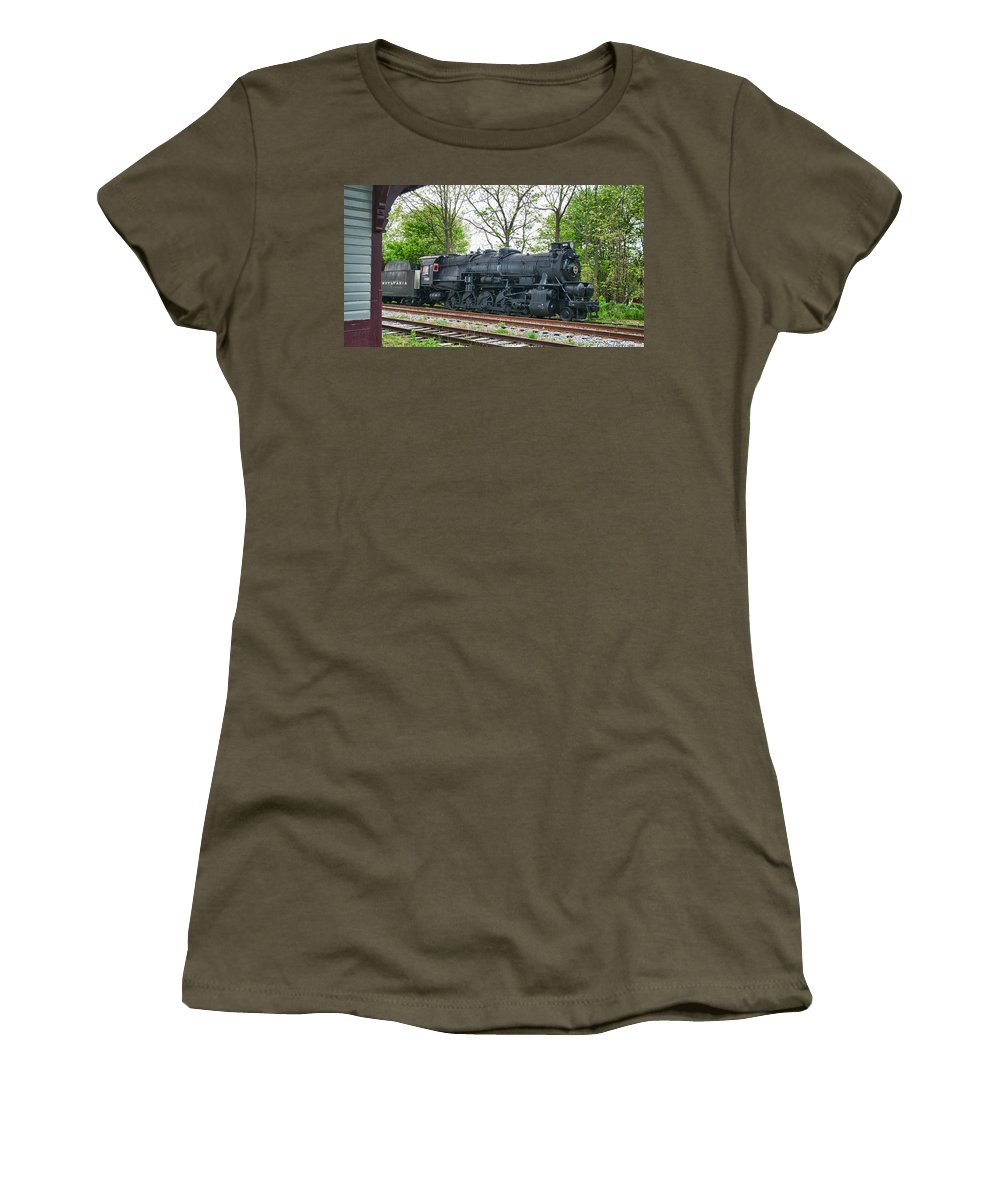 Guy Whiteley Photography Women's T-Shirt (Athletic Fit) featuring the photograph Pennsy 4483 by Guy Whiteley