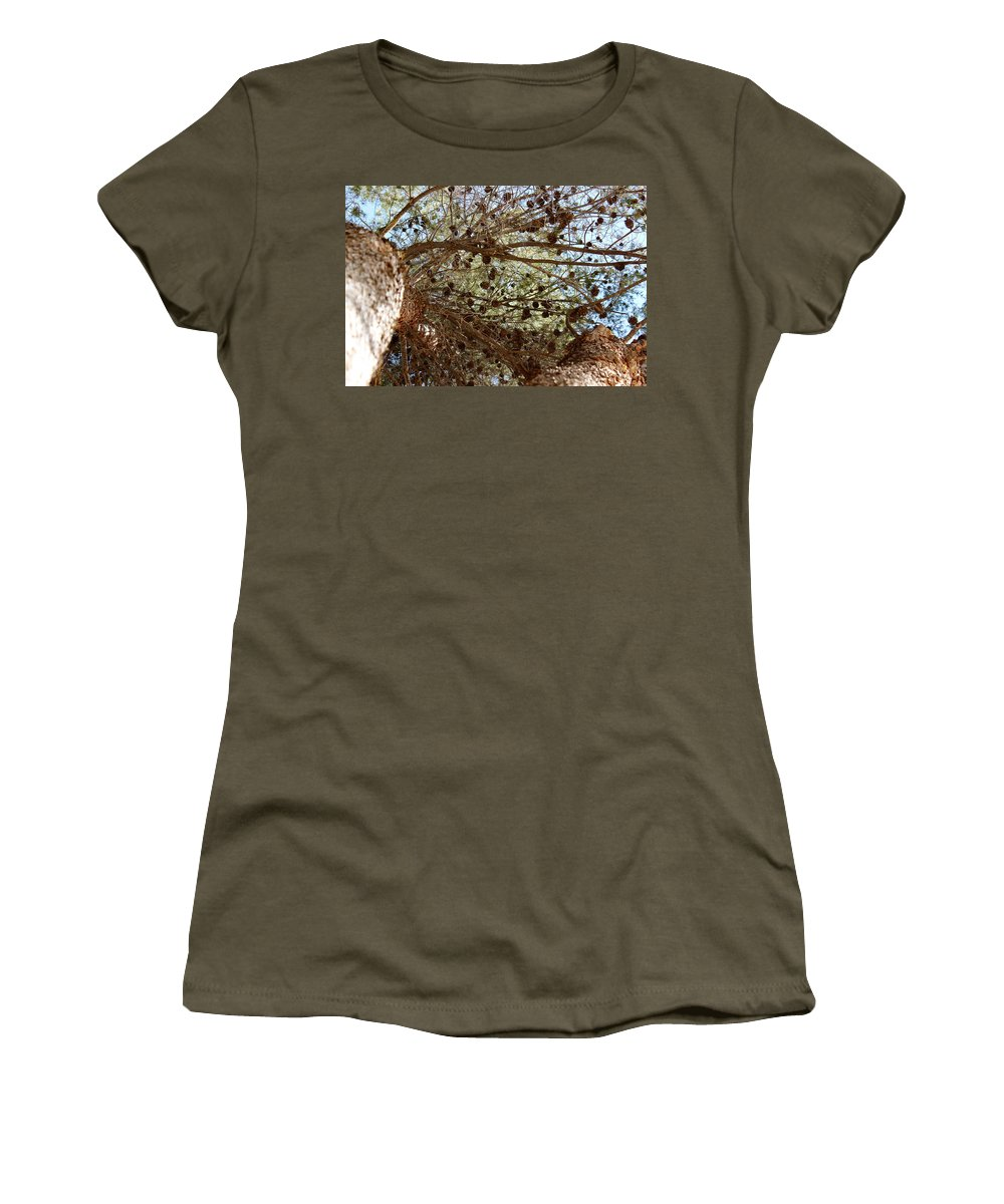 Pine Women's T-Shirt (Athletic Fit) featuring the photograph Pine Cones by Kume Bryant