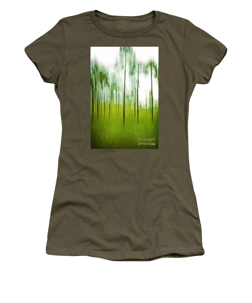 Trees Women's T-Shirt featuring the photograph Pines by Scott Pellegrin