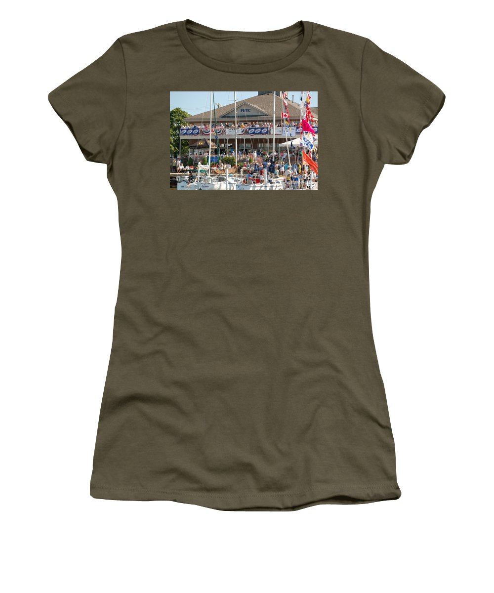 Sailboats Women's T-Shirt featuring the photograph Port Huron To Mackinac Race by Randy J Heath