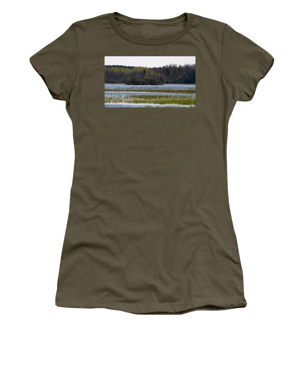 Lehtokukka Women's T-Shirt (Athletic Fit) featuring the photograph Puurijarvi by Jouko Lehto