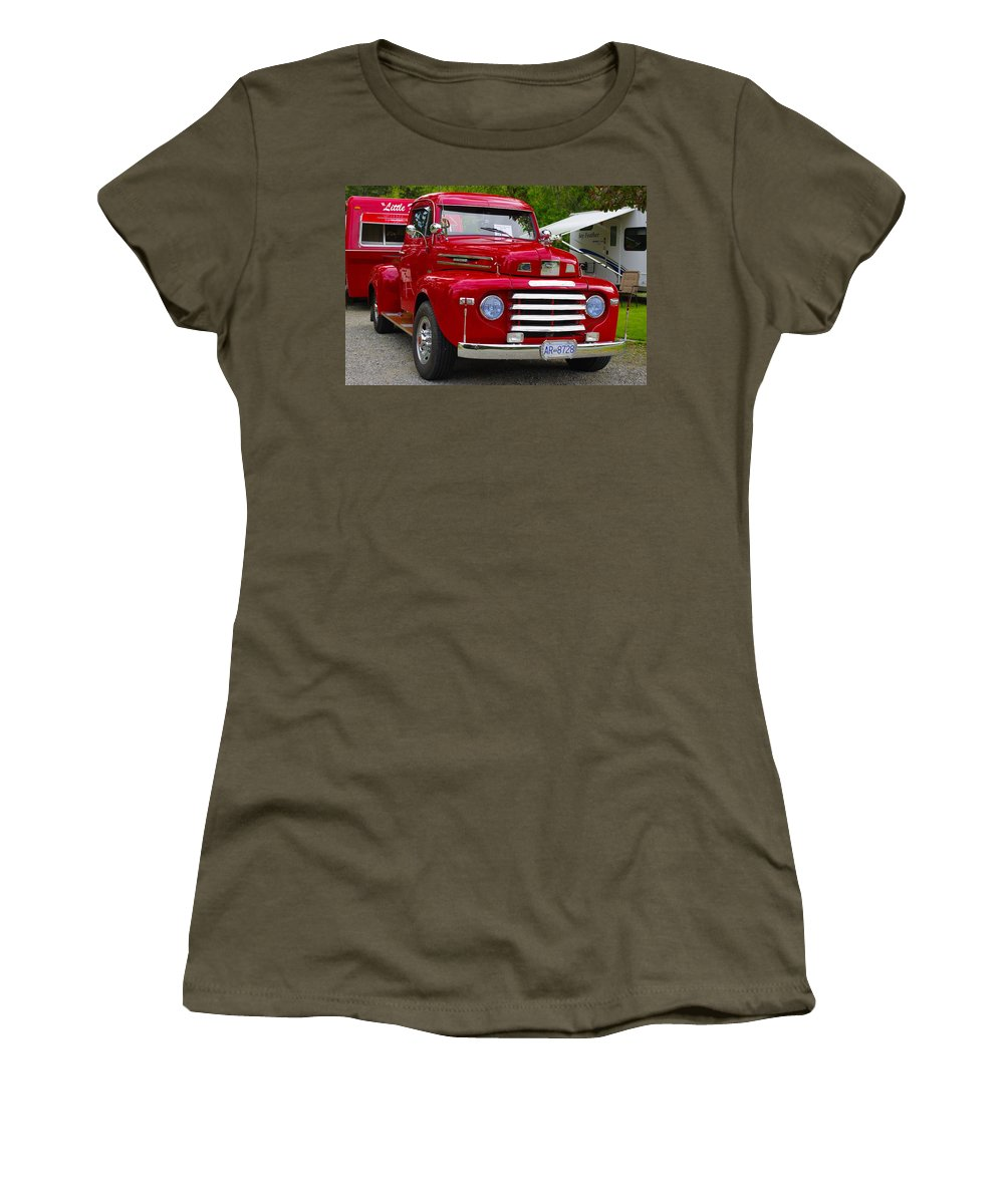 Red Women's T-Shirt (Athletic Fit) featuring the photograph Red Mercury by John Greaves