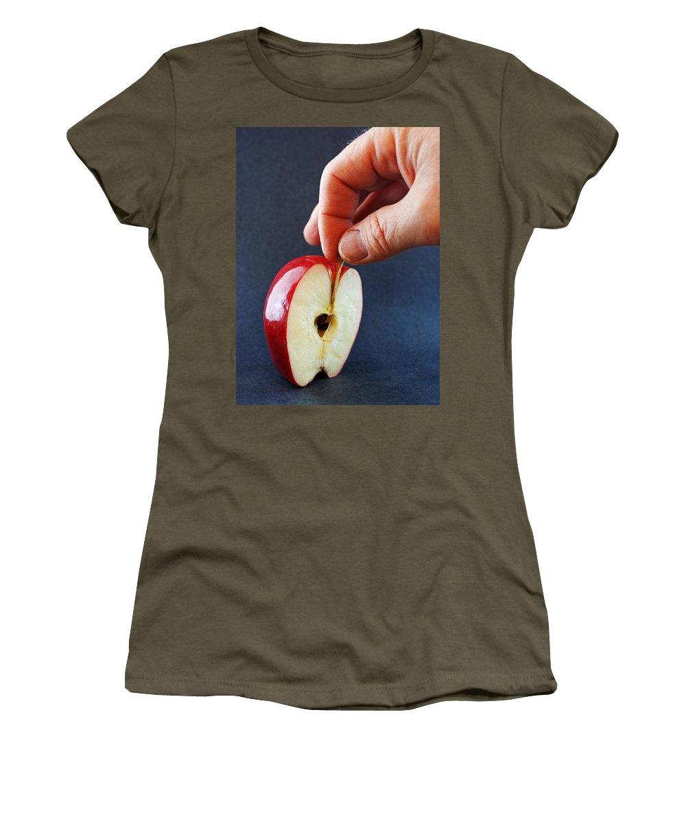 Apple Women's T-Shirt featuring the photograph Ripe For The Picking by Jeff Galbraith