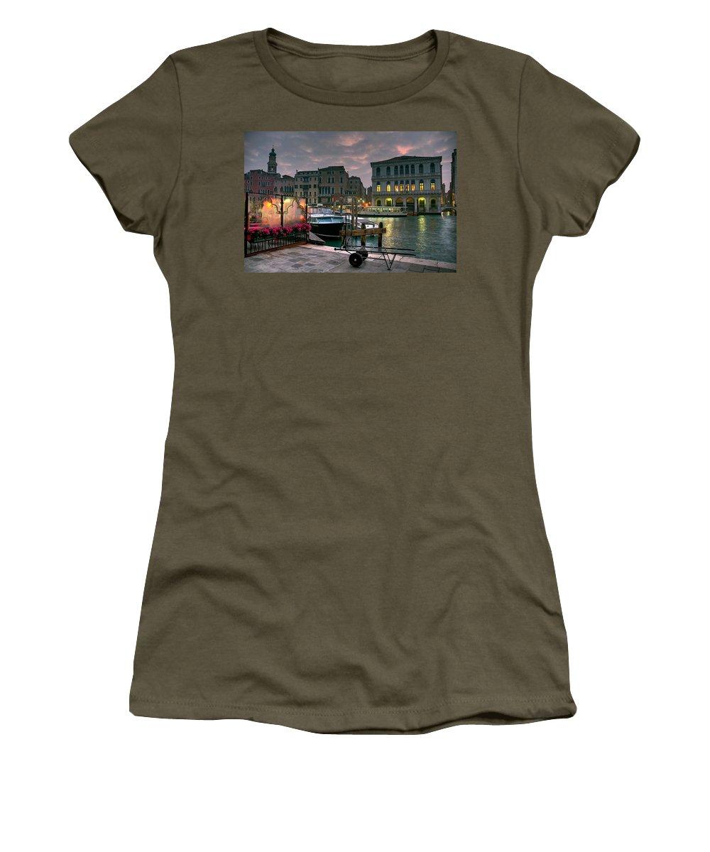 Venice Italy Women's T-Shirt featuring the photograph Riva Del Vin. Venezia by Juan Carlos Ferro Duque