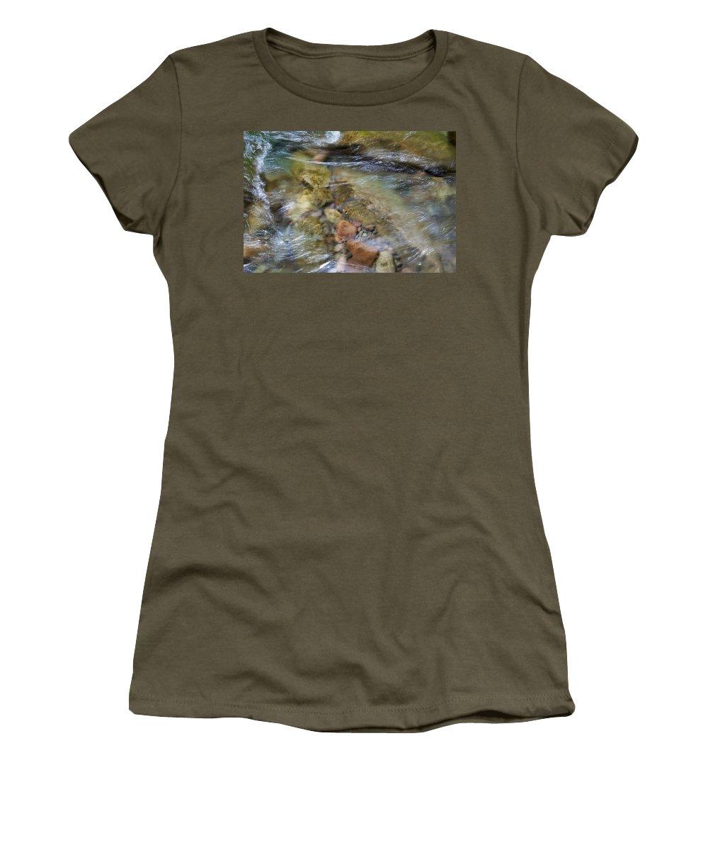 Beautiful Women's T-Shirt featuring the photograph River Rocks by Jenna Szerlag