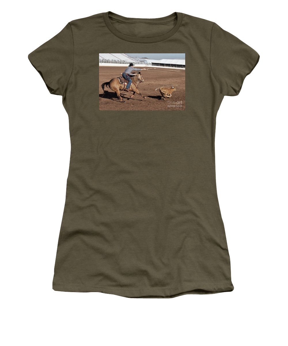 Rodeo Women's T-Shirt featuring the photograph Rodeo 10 by Larry White