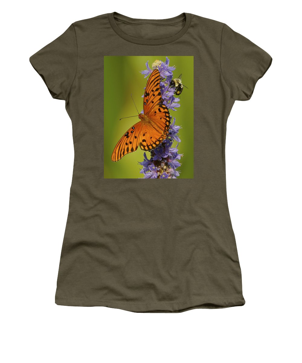 Butterfly Women's T-Shirt featuring the photograph Room For Two by Kenneth Blye