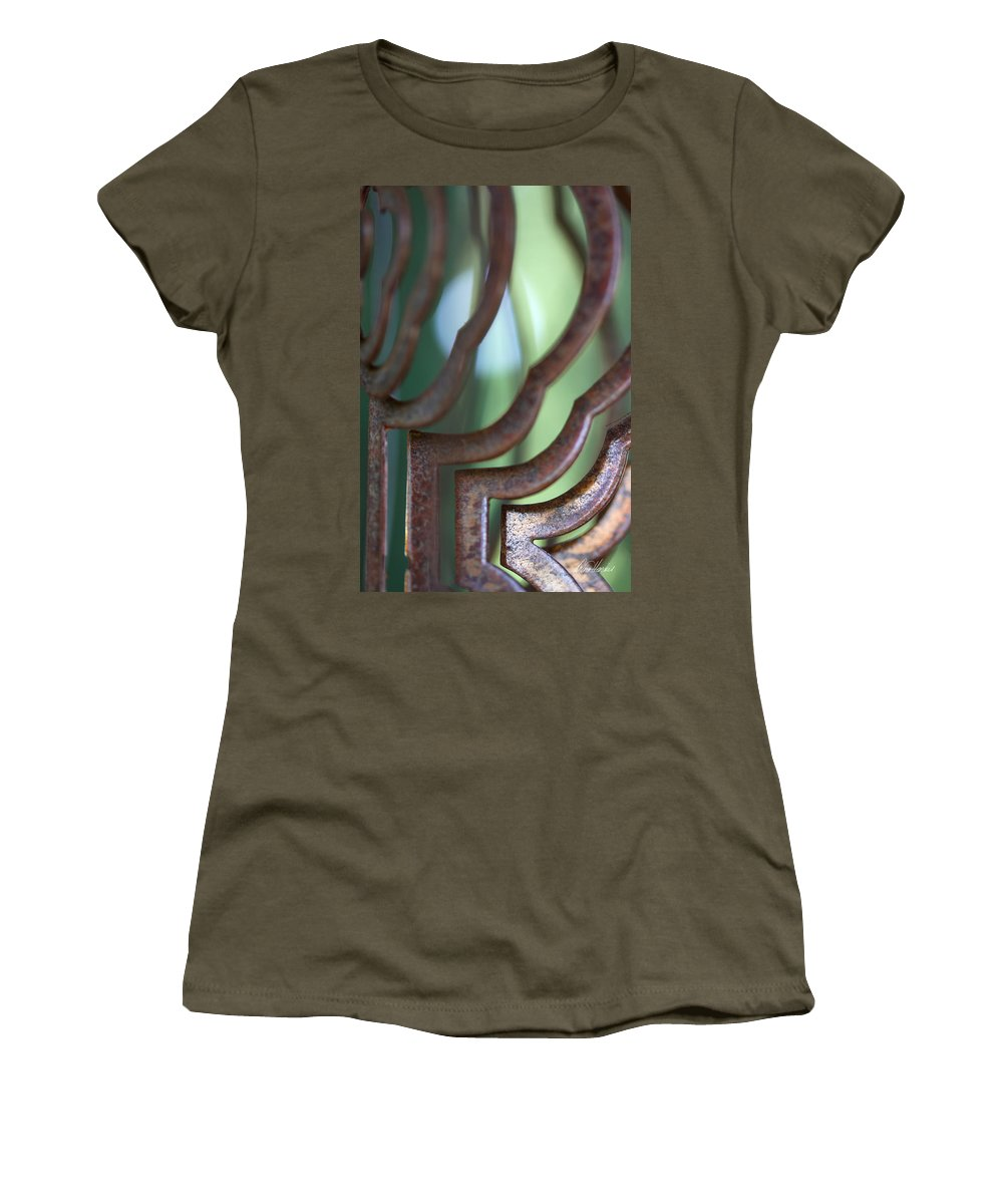 Rust Women's T-Shirt featuring the photograph Rusty Windchimes by Diana Haronis
