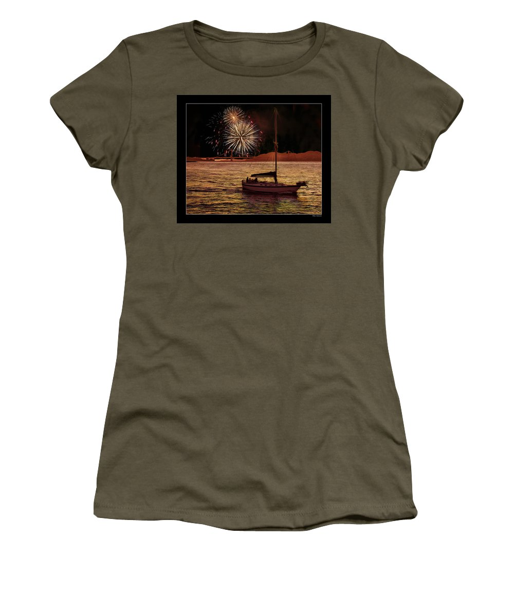 Golden Gate 75th Anniversary Women's T-Shirt featuring the photograph San Francisco Golden Gate 75th Anniversary by Blake Richards