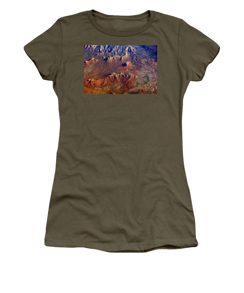 Sedona Women's T-Shirt featuring the photograph Sedona Arizona Planet Earth by James BO Insogna