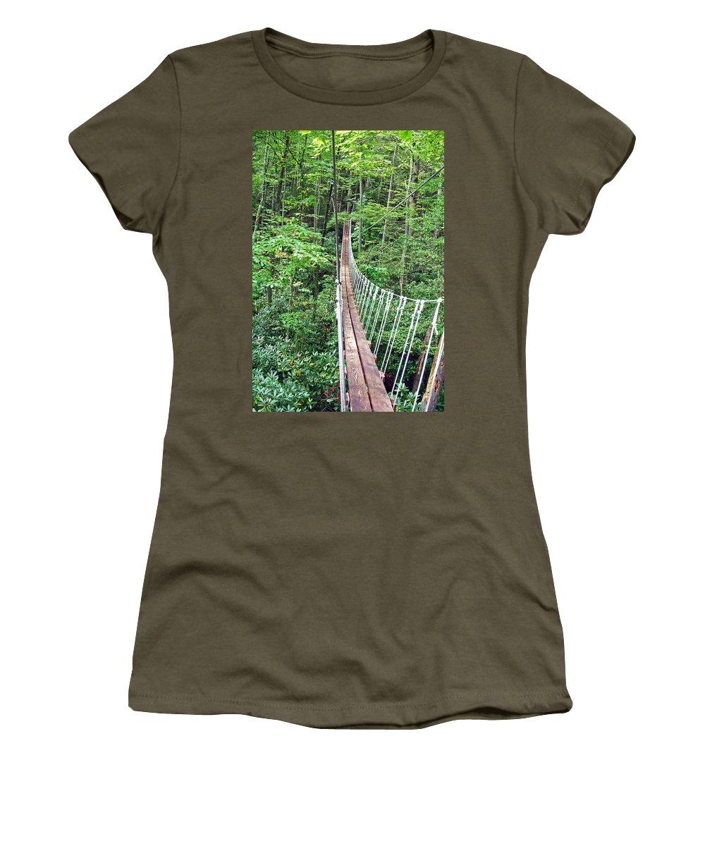Bridge Women's T-Shirt featuring the photograph Sky Bridge 2 by Aimee L Maher ALM GALLERY