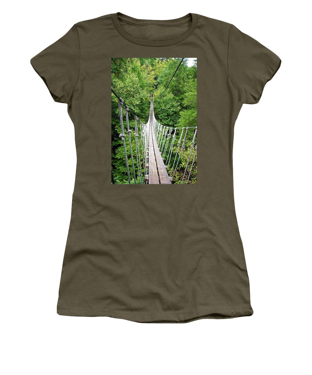 Bridge Bridges Women's T-Shirt featuring the photograph Sky Bridge by Aimee L Maher ALM GALLERY