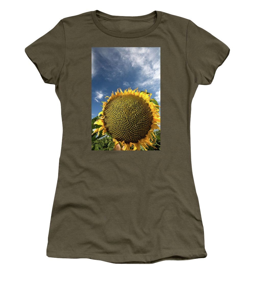 Clouds Women's T-Shirt featuring the photograph Smiling Face by Peter Tellone