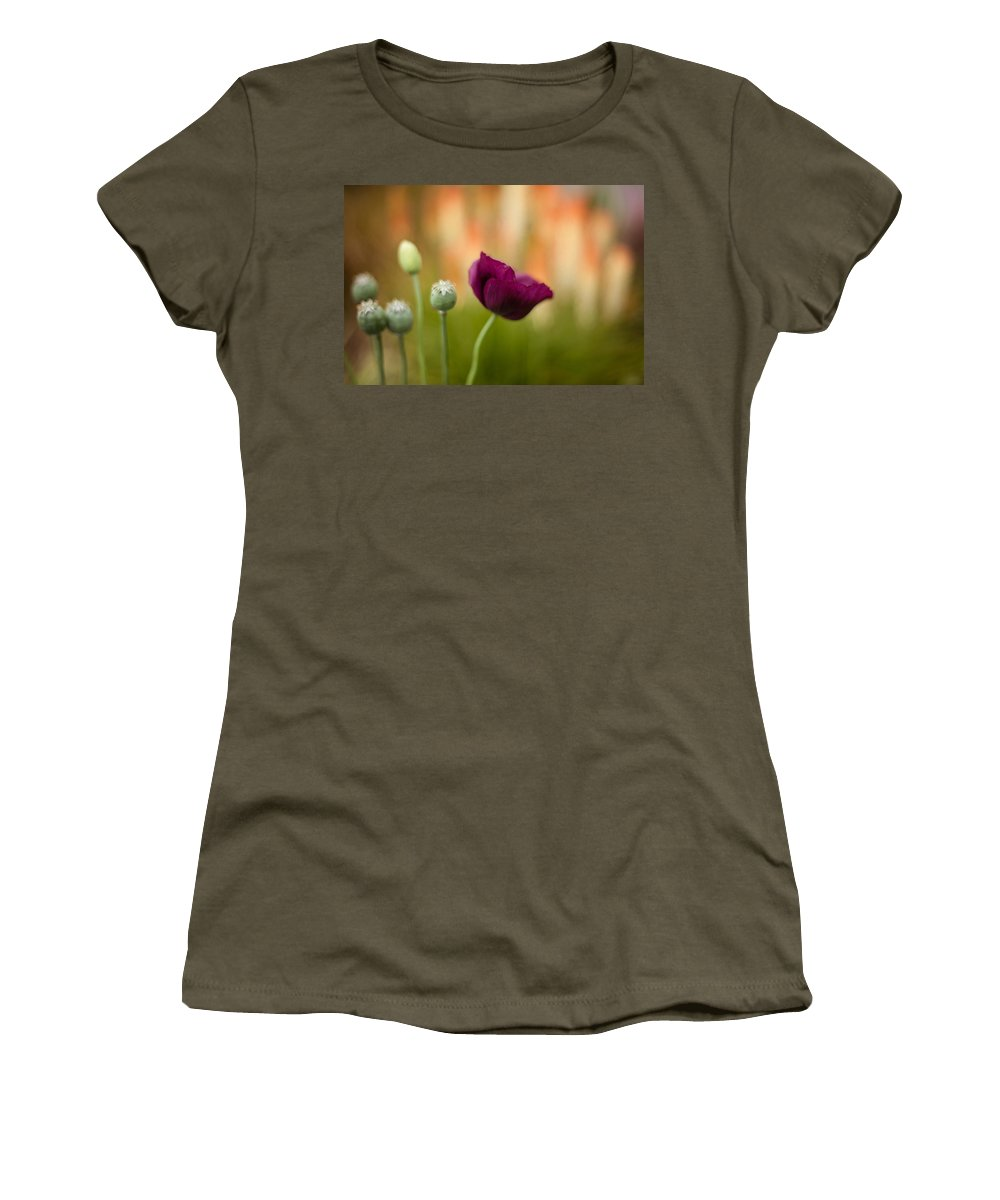 Flower Women's T-Shirt featuring the photograph Stark Poppies by Mike Reid
