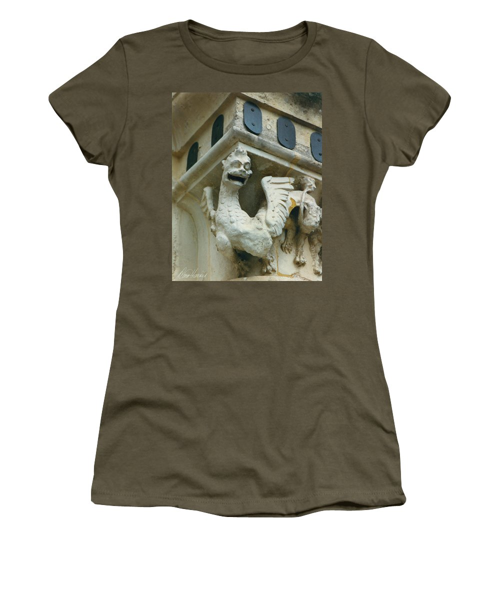 Stone Women's T-Shirt featuring the photograph Stone Beastie by Diana Haronis
