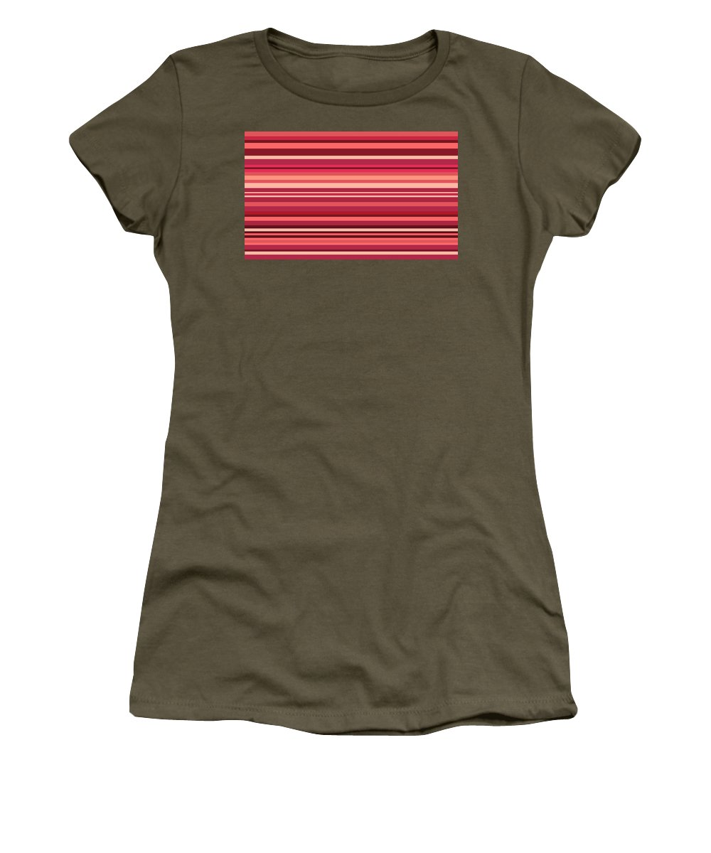 Digital Art Women's T-Shirt featuring the digital art Striped by Sumit Mehndiratta