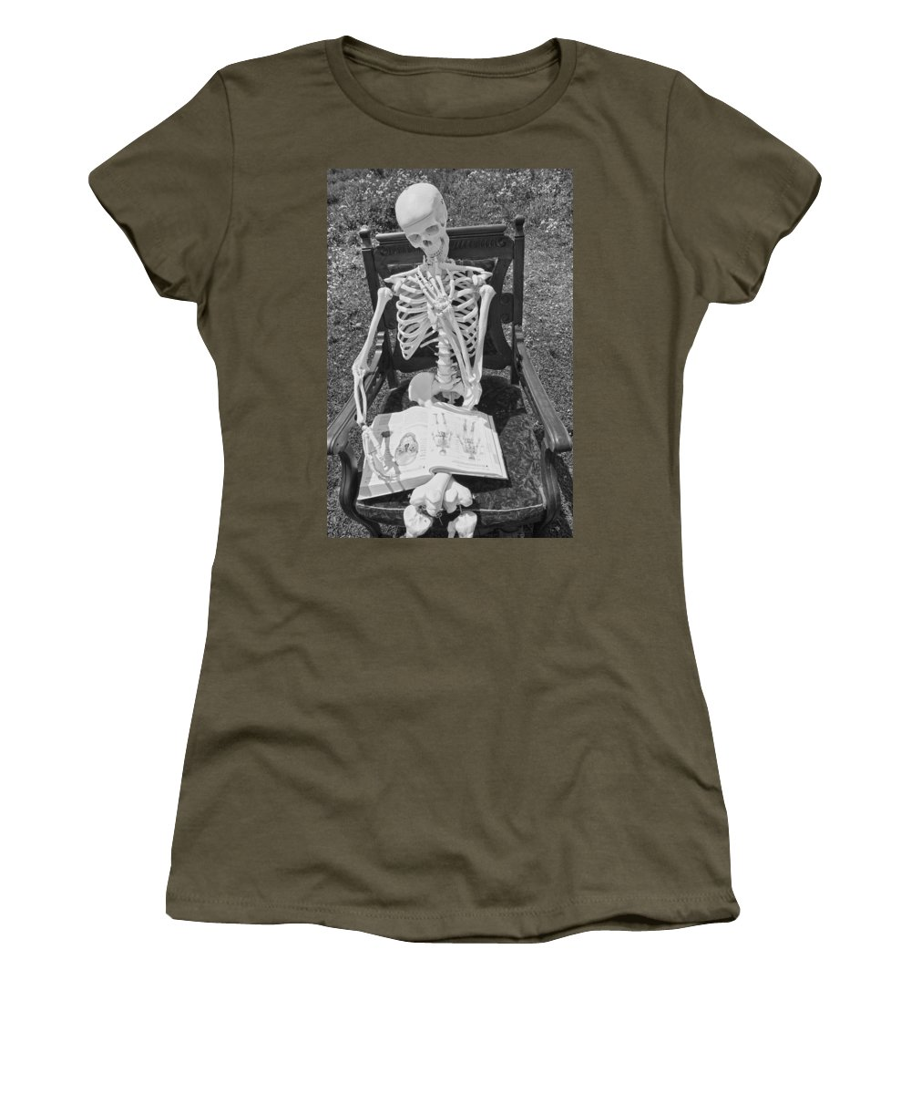 Skeleton Women's T-Shirt featuring the photograph Study by Betsy Knapp