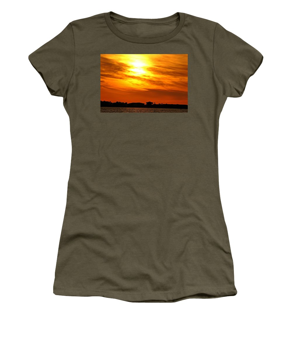 Sunset Women's T-Shirt featuring the photograph Sunset Ix by Joe Faherty