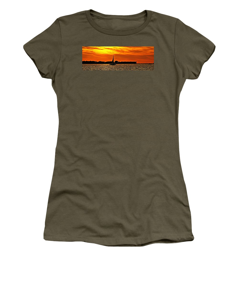 Sunset Women's T-Shirt featuring the photograph Sunset Xii by Joe Faherty
