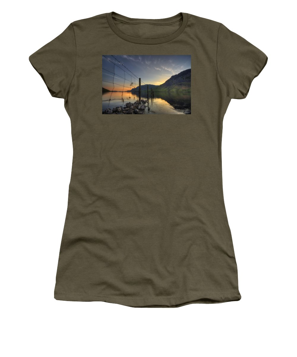 Wasdale Women's T-Shirt featuring the photograph Sweet Wave Of Sunset by Evelina Kremsdorf