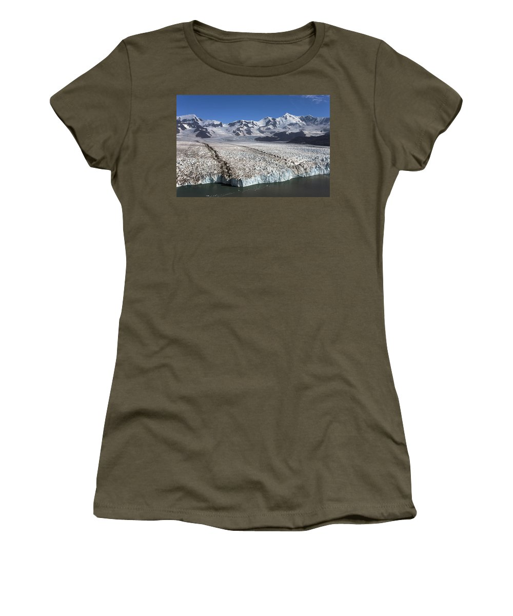 Mp Women's T-Shirt featuring the photograph Terminal Moraine Of Nordenskjold by Ingo Arndt